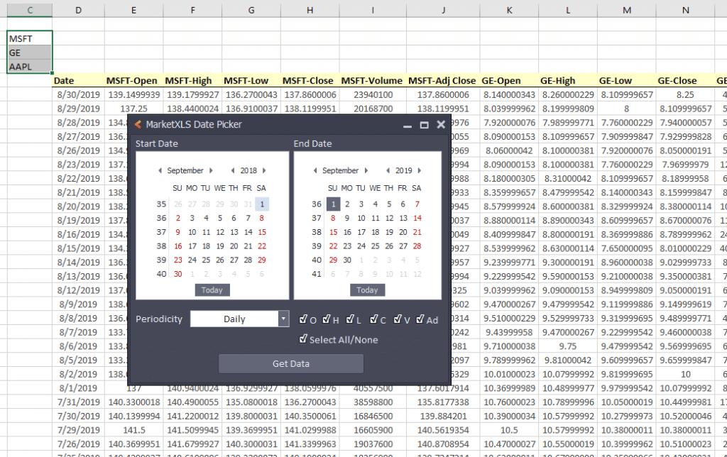 Google Finance Portfolio Alternative (MarketXLS - Excel