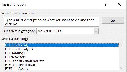 Stock ETF functions