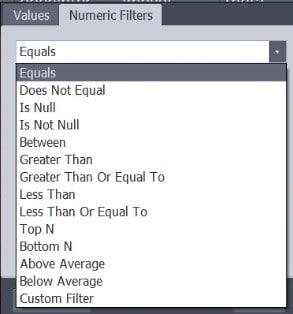 Numeric Filter