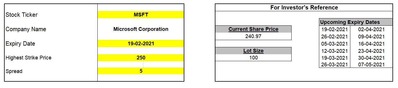 MarketXLS Template