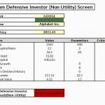 Graham--Defensive Investor (Non-Utility) Screen