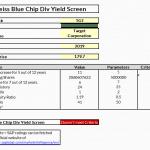 Weiss Blue Chip Div Yield Screen