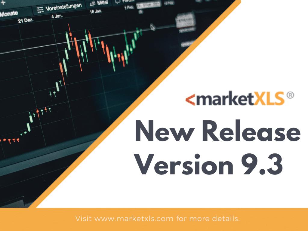 MarketXLS - new release